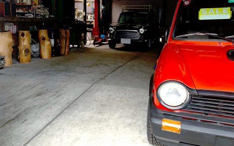 my mini in a garage