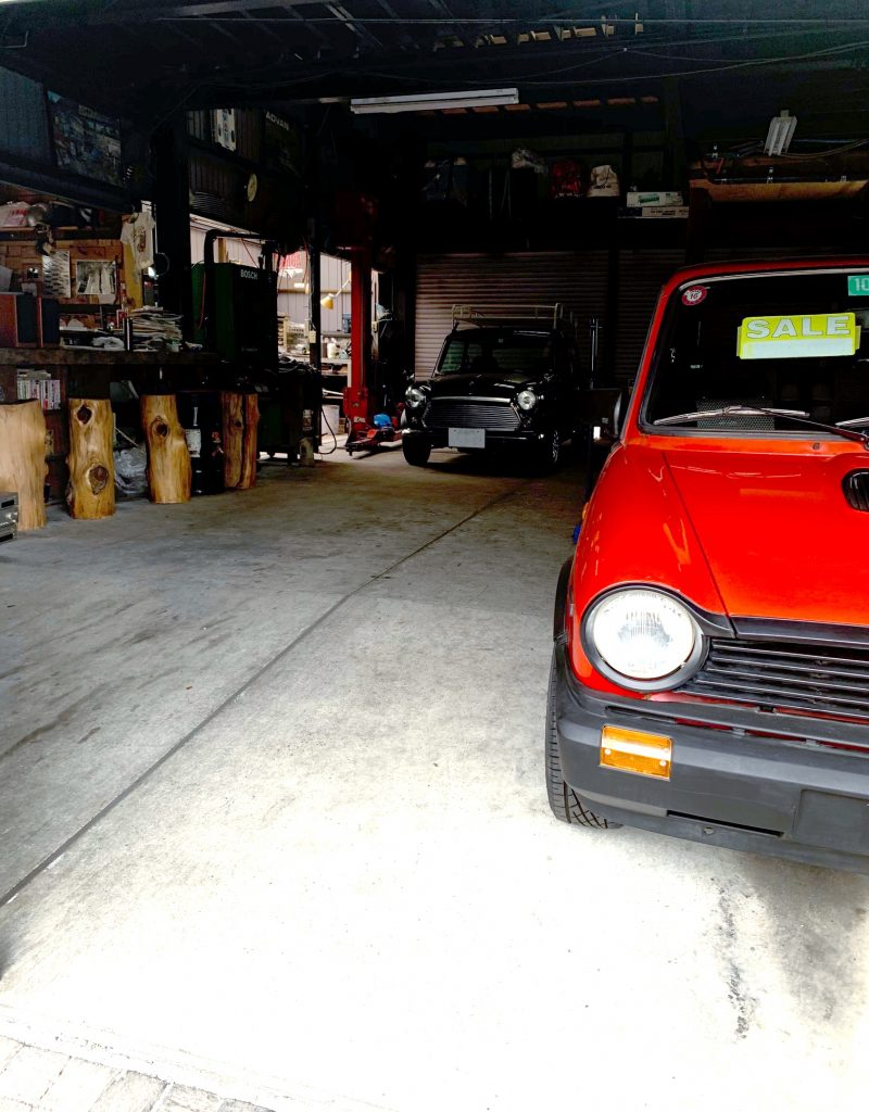 my mini in a garage
